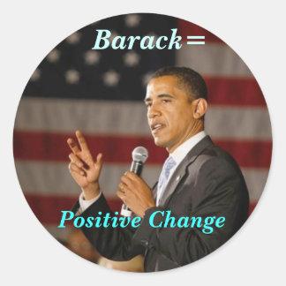 Barack = pegatina positivo del cambio