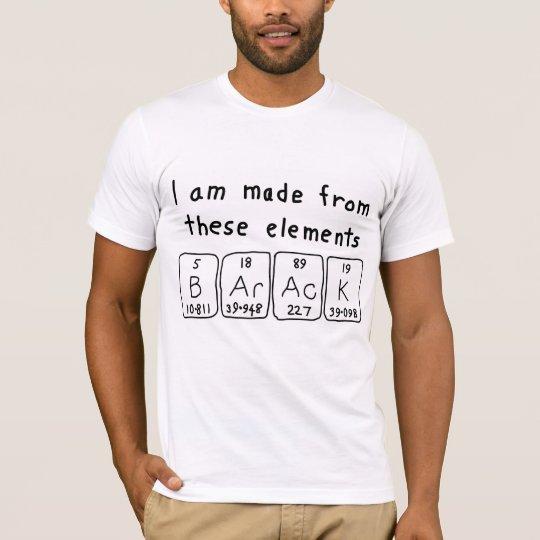 Barack periodic table name shirt
