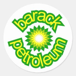 Barack Petrolium BP Round Stickers