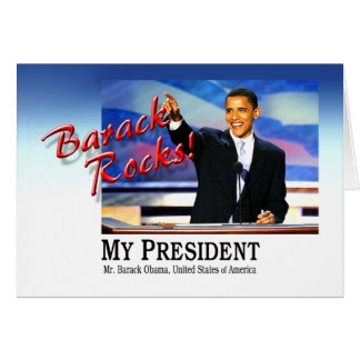 Barack Rocks! Greeting Card