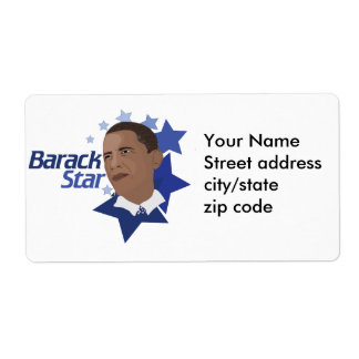 Barack Star Shipping Label