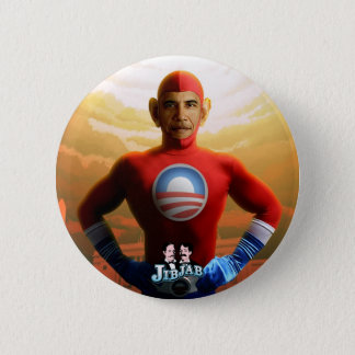 Barack Superhero Pinback Button