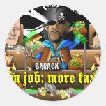 Barack The Pirate and Davy Jones Sticker