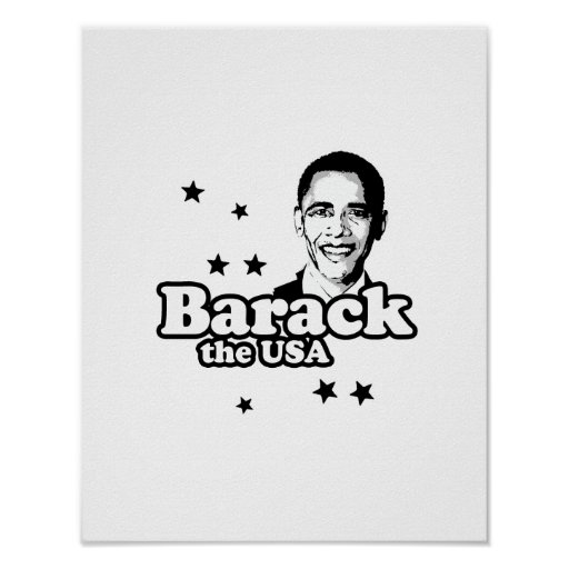 BARACK THE USA -.png Poster