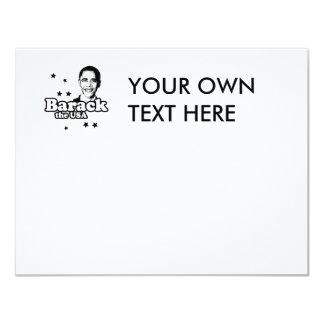 Barack the USA T-shirt 4.25x5.5 Paper Invitation Card