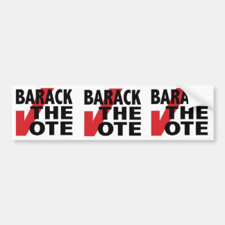 Barack the Vote Car Bumper Sticker