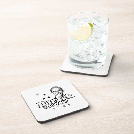 Barack the Vote Faded.png Beverage Coasters