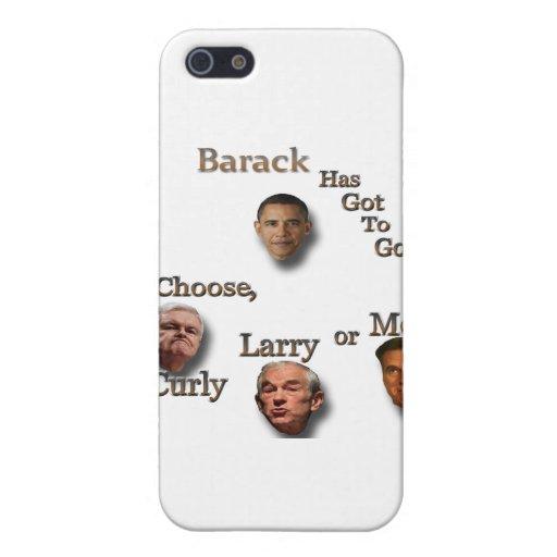 Barack tiene que ir elige el brn rizado de Larry o iPhone 5 Funda