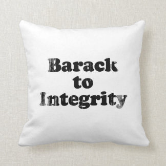 Barack to Integrity - Faded.png Pillow