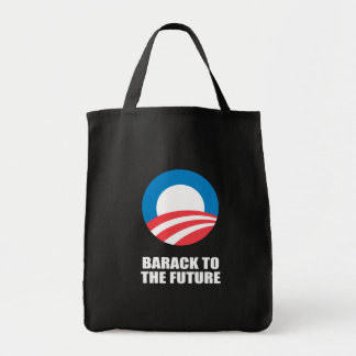 BARACK TO THE FUTURE GROCERY TOTE BAG