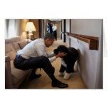 Barack y BO Obama
