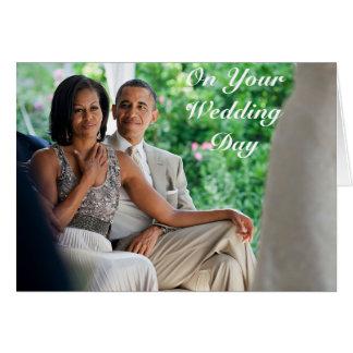 Barack y boda de Michelle - tarjeta