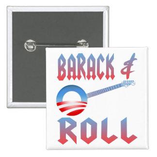 Barack y botón del rollo pin