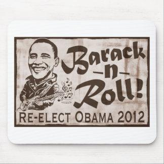 Barack y engranaje de Obama 2012 del rollo Alfombrillas De Ratón