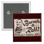 Barack y engranaje de Obama 2012 del rollo Pin Cuadrada 5 Cm