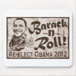 Barack y engranaje de Obama 2012 del rollo Alfombrillas De Raton