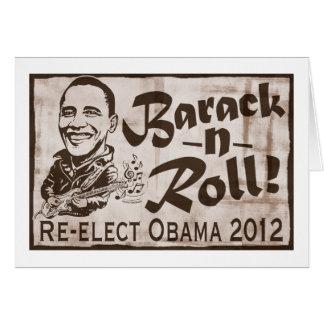 Barack y engranaje de Obama 2012 del rollo Felicitación