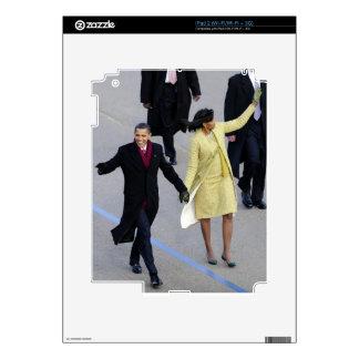 Barack y Micaela Obama Calcomanías Para El iPad 2