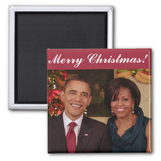Barack y Michelle 2010WA - imán del navidad