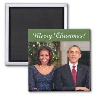 Barack y Michelle 2013WA - imán del navidad