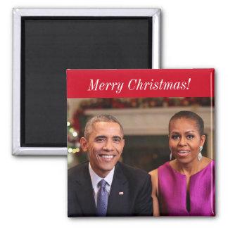 Barack y Michelle 2014WA - imán