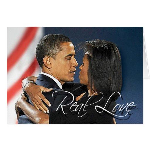 Barack y Michelle - amor real Tarjeton