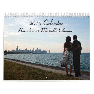 Barack y Michelle Obama 2016 - calendario