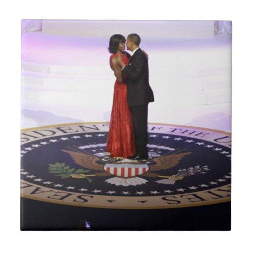 Barack y Michelle Obama Azulejo Cuadrado Pequeño