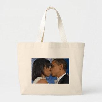 Barack y Michelle Obama Bolsa Tela Grande
