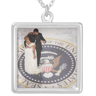 Barack y Michelle Obama Colgante Cuadrado