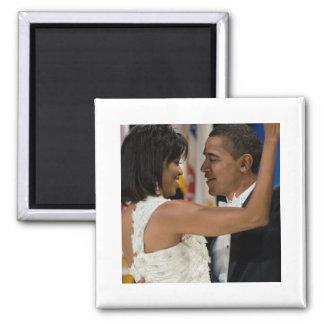 Barack y Michelle Obama Imán Cuadrado