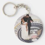 Barack y Michelle Obama Llavero Redondo Tipo Pin