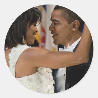 Barack y Michelle Obama Pegatina Redonda
