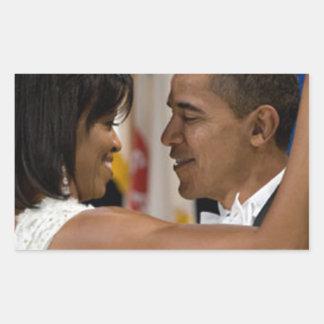 Barack y Michelle Obama Pegatina Rectangular