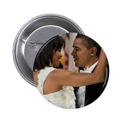 Barack y Michelle Obama Pin Redondo De 2 Pulgadas
