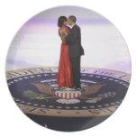 Barack y Michelle Obama Platos Para Fiestas