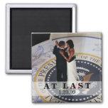 Barack y Michelle Obama que baila la bola inaugura Iman De Frigorífico