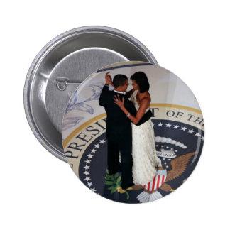 Barack y Michelle Obama que baila la bola inaugura Pin Redondo 5 Cm