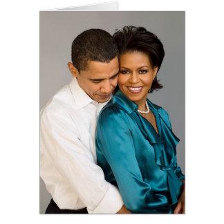 Barack y Michelle Tarjeta De Felicitación
