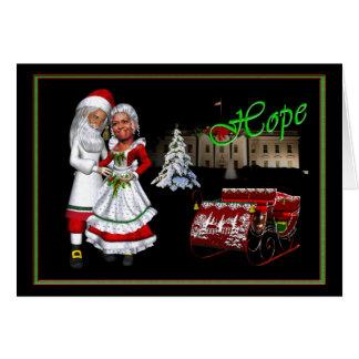 Barack y navidad de Michelle Obama Tarjetas