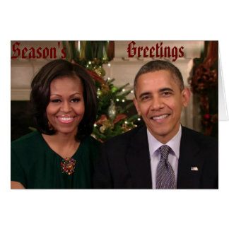 Barack y tarjeta de Michelle 2012WA-Greeting
