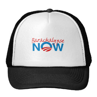Barackalypse ahora gorros bordados