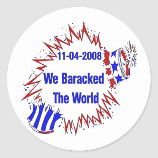 Baracked The World Classic Round Sticker