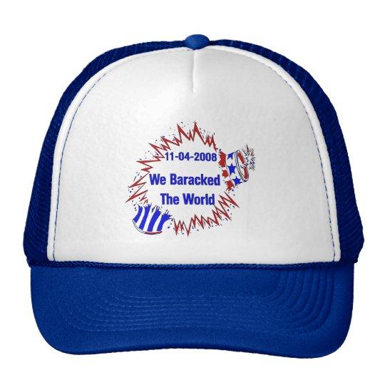 Baracked The World Trucker Hat