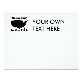 """Barackin en la camiseta de los E.E.U.U. Invitación 4.25"""" X 5.5"""""""