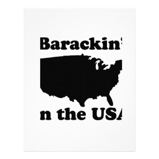 Barackin' in the USA T-shirt Personalized Letterhead