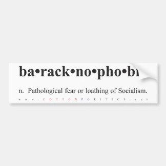 Baracknophobia Bumper Sticker Car Bumper Sticker