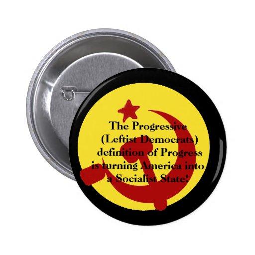 BarackObamaschange, el progresista (izquierdista D Pins