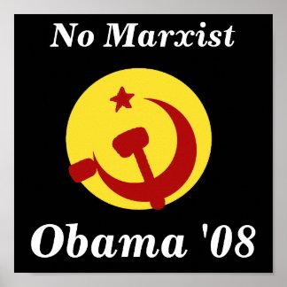 BarackObamaschange, Obama '08, No Marxist Poster