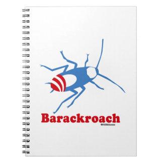 BARACKROACH SPIRAL NOTEBOOK